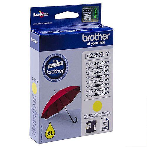 Brother LC225XLY Yellow High Yield Inkjet Cartridge Umbrella