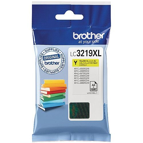 Brother Yellow High Yield Inkjet Cartridge LC3219XLY