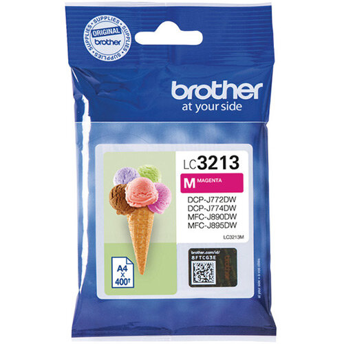 Brother Ink Cartridge High Yield Magenta LC3213M