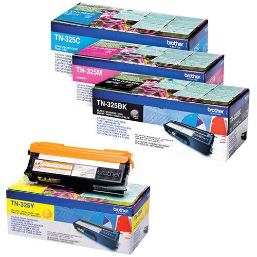 Brother TN325 Toner Cartridge Bundle Cyan/Magenta/Yellow/Black Pack of 4 BA810619