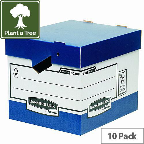 Fellowes Bankers Box Heavy Duty Standard Storage Box Ref 0089901 [Pack 10]