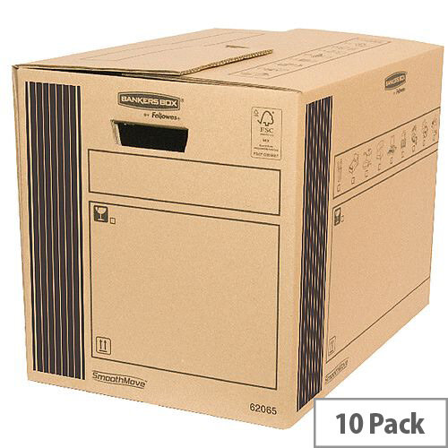 Classic Double Wall Packing Cardboard Boxes 350x500x370mm (Pack of 10)