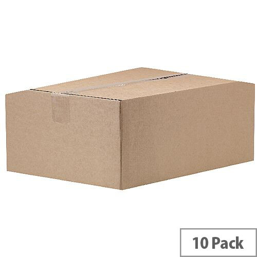 Auto Assembly 305x203x150mm Double Wall Packing Cardboard Boxes (Pack of 10)