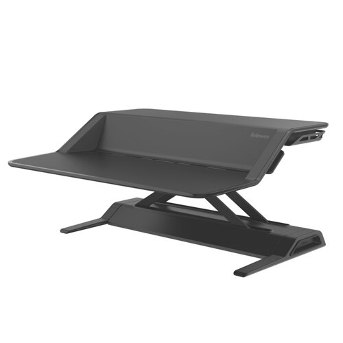Fellowes Lotus Height Adjustable Sit Stand Desktop Workstation Black. Improve Posture, Decrease Back/Neck Pain &Reduce Risk Of Heart Disease &Cardiovascular Issues. Ref 0007901