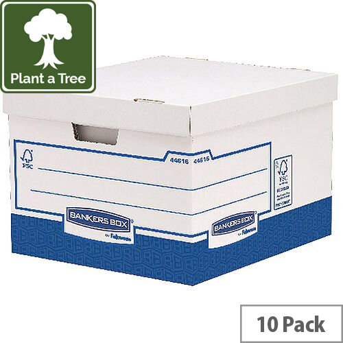 Fellowes Basics Large Heavy Duty Storage Box W380 x D430 x H287 mm Pack of 10 BB72106