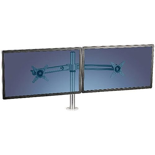 """Fellowes Lotus Dual Monitor Arm 8042901 VESA Mount Compatible for up to 27"""" Screen"""