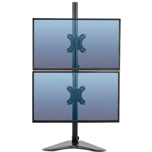 Fellowes Pro Series Free Standing Dual Vertical Monitor Arm 8044001