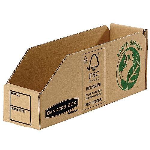 R-Kive Earth Corrugated Bin 76mm Pack 50