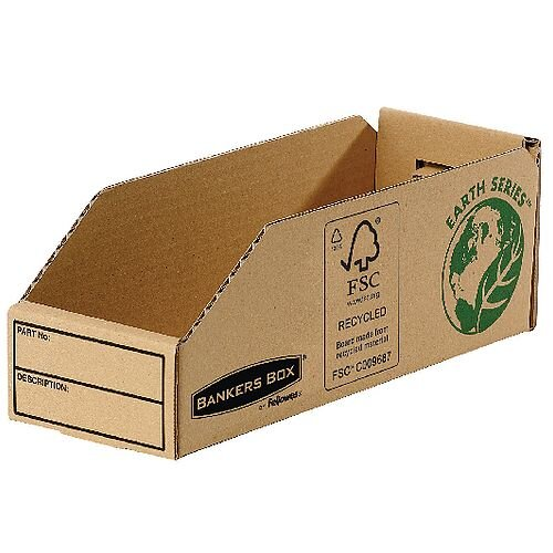 R-Kive Earth Corrugated Bin W98mm Pack 50