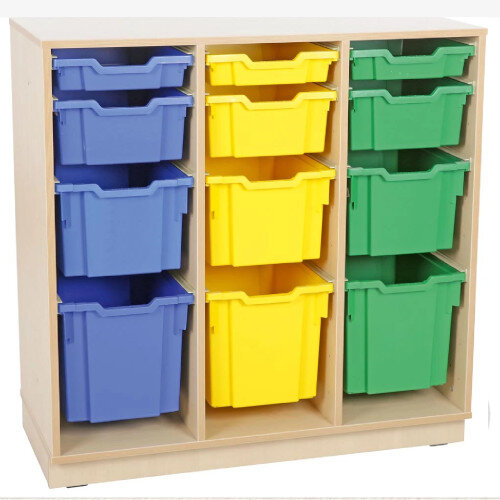 Tray Storage Large Cabinet For Plastic Container 3 Jumbo, 3 Big, 3 Deep and 3 Shallow Trays With Plinth H106cm