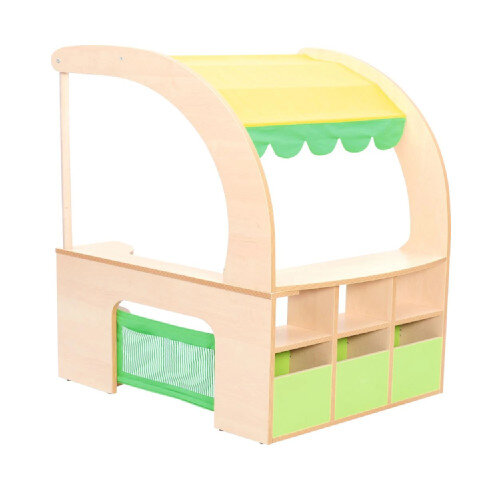 Flexi Corner Stall With Shelves, Roof &Counter 93.2x75x125.4cm