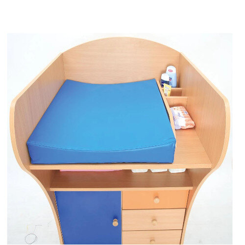 Baby Changing Unit Including Mat On Wheels