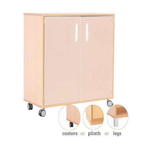 Medium Cabinet With Doors Birch H87cm