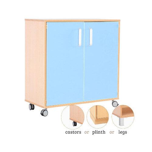 Medium Cabinet With Doors Blue H87cm