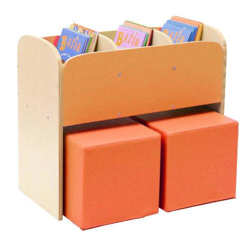 Special Classroom Browser Unit Orange With Poufs H55cm