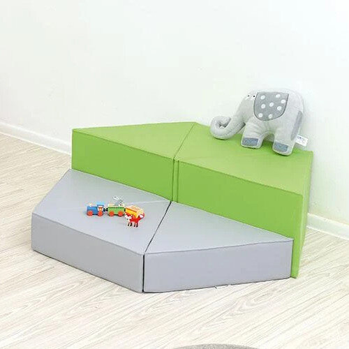 Triangle Seats - Material: Foam &Vinyl - Magnets Included - Dimensions: 55x15x30cm