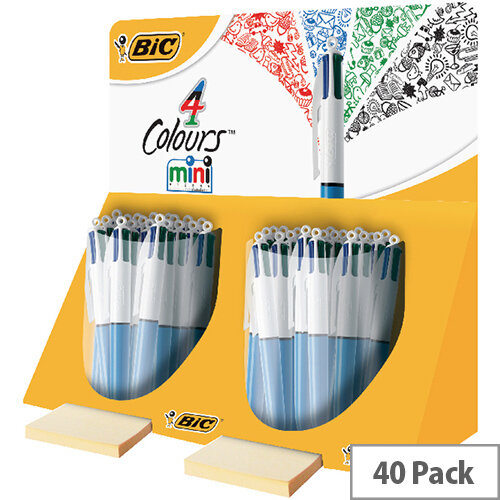 Bic 4 Colours In 1 Mini Ballpoint Pen Pack of 40 In Counter Display Unit 895959