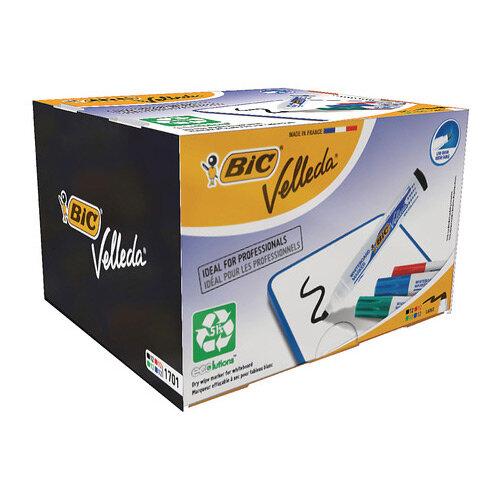 Bic Velleda 1701 Bullet Tip Assorted Whiteboard Marker Pack 48 927259