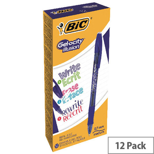 BIC Gelocity Illusion Blue Pack of 12 943440