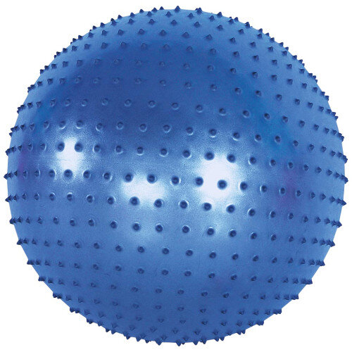 Sensory Ball - Soft Rubber, Small Insets - Ideal for Rehabilitation or Games - Size: 75cm - Colour: Blue