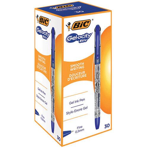 Bic Gelocity Gel Ink Pens 0.5mm Blue Pack of 30 CEL1010265
