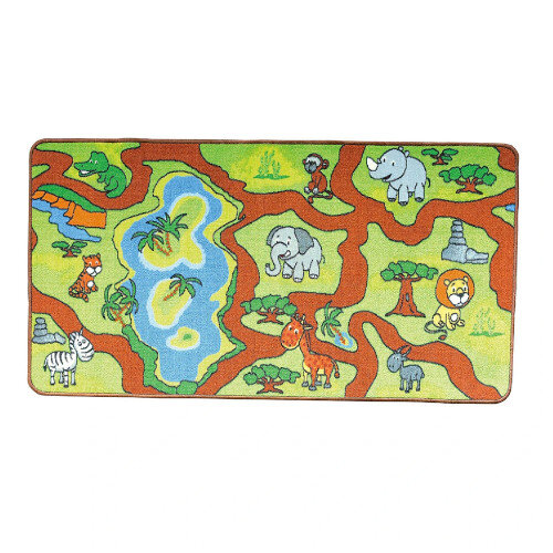 Jungle Play Mat For Play Table 140x70x0.5cm