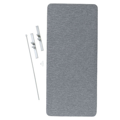 Low Silencing Screens With A Rigid Frame Covered With Textile Grey