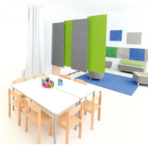 Rectangular Silencing Barrier - Noise Reduction - Dimensions 0,8cm x 60cm x 180 cm - Colour: Green