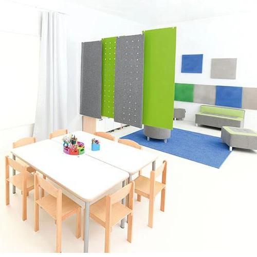 Rectangular Silencing Barrier With Holes - Dimensions: 0,8cm x 60cm x 180cm - 56 x 2cm Holes - Colour: Grey