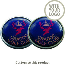Elite Domed Flat Ball Marker 161351 - Customise with your brand, logo or promo text