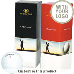 Three Golf Ball Box 161480 - Customise with your brand, logo or promo text