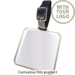 Elite Square Metal Bag Tag 187700 - Customise with your brand, logo or promo text