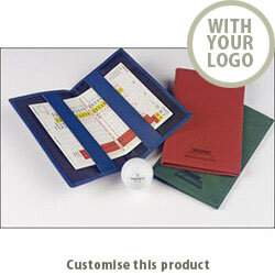 Belluno/Torino Pu Golf Scorecard Holder 3088951 - Customise with your brand, logo or promo text