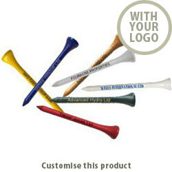 70 mm Wooden Tees (Straight Line Print) 309103488 - Customise with your brand, logo or promo text