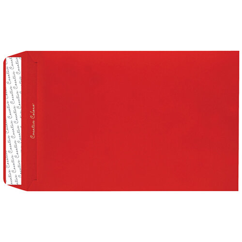 C4 Pocket Envelope Peel and Seal 120gsm Pillar Box Red Pack of 250 406P