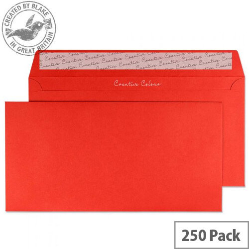 Blake DL Pillar Box Red Wallet Envelopes (Pack of 250)