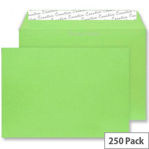 Blake Lime Green Wallet Envelopes C4 (Pack of 250)