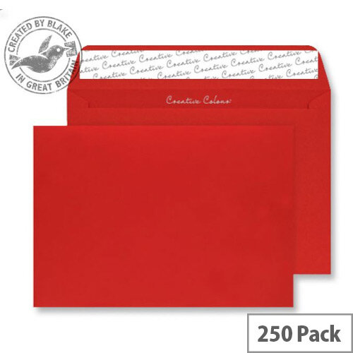 Blake Creative Colour Pillar Box Red Wallet C4 Envelopes (Pack of 250)