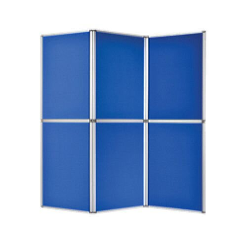 Bi-Office 6 Panel Display Kit Blue DSP340116