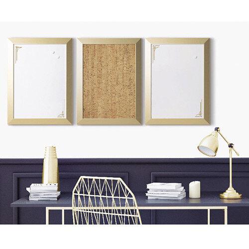 Bi-Office Positive Flow Metallic Gold Personal Boards Assorted Pack of 3 SOR031