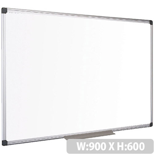 Bi-Office Drywipe Board Magnetic – Drywipe, Steel Surface, Supplied With Wall Fixings, Suitable For Education And Office Settings, 900x600mm &Slim Aluminium Frame (MA0307170)