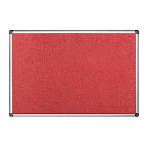 Bi-Office Felt Board 1200 x 900mm Red FA0546170