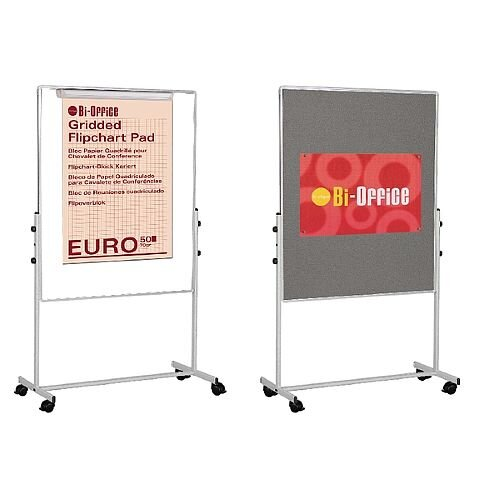 Bi-Office Duo Easel 1200x790mm Grey Felt EA4724075
