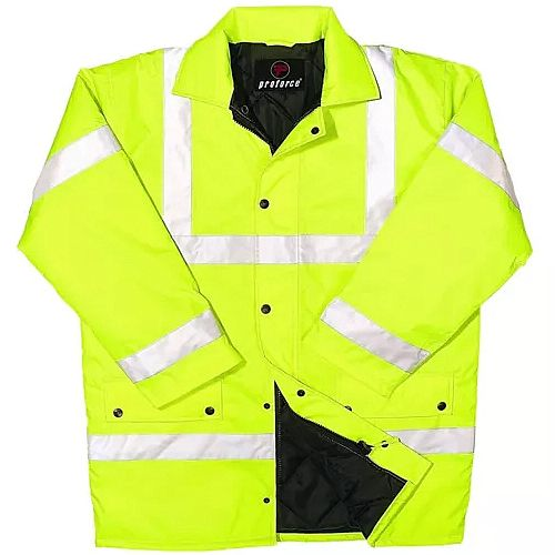 Proforce Yellow Hi Vis Site Jacket Class 3 XXL EN471