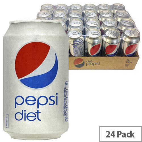 Diet Pepsi Cola Soft Drink Cans 330ml (Pack 24)