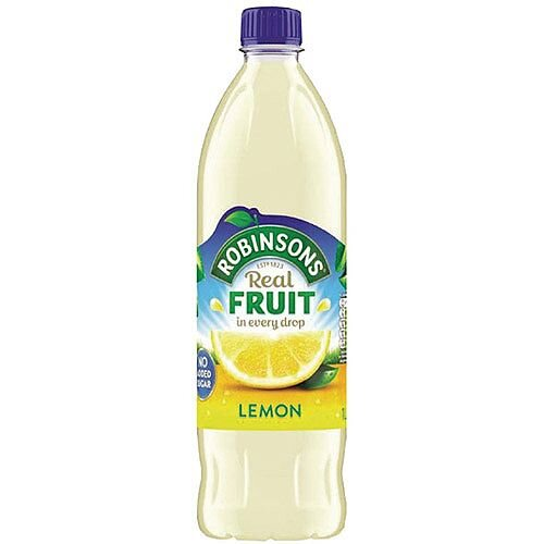 Robinsons Lemon Squash No Sugar 1 Litre A02103 Dilute With Water Concentrated Cordial