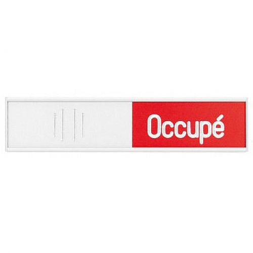 Franken Manual Adjustable Occupancy Sign French 152 x 37.4mm BS0120