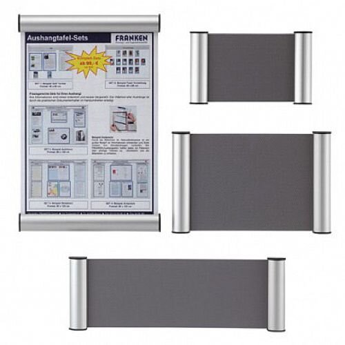 Franken Doorplate ½ A6 180 x 60mm Silver BS0601