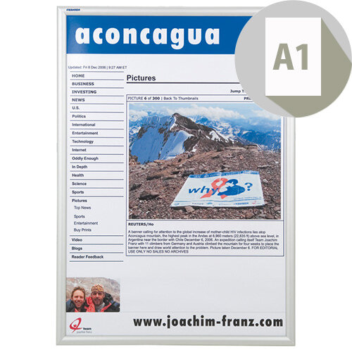 Franken A1 Exterior Aluminium Snap Frame BS1704