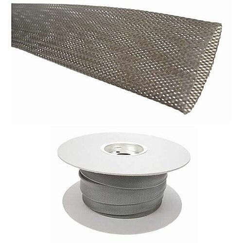 Standard Grey Braided Sleeving for Cables 28-47mm 25mm